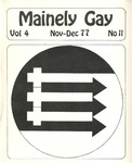 Mainely Gay, Vol.4, No.11 (November/December 1977) by Susan Henderson, John Frank, Miriam Dyak, and Danny MacNaughton