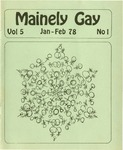 Mainely Gay, Vol.5, No.1 (January/February 1978) by Miriam Dyak, John Frank, Susan Henderson, and Kevin Mohr