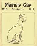 Mainely Gay, Vol.5, No.2 (March/April 1978) by Susan Henderson and Kevin Mohr