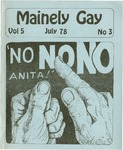 Mainely Gay, Vol.5, No.3 (July 1978) by Susan Henderson, Kevin Mohr, and Peter Prizer