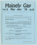 Mainely Gay, Vol.5, No.6 (March/April 1979) by Susan Henderson and Peter Prizer