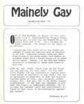 Mainely Gay (November/December 1979) by Susan Henderson and Peter Prizer