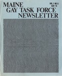 Maine Gay Task Force Newsletter, Vol.3, No.11(November 1976) by Peter Prizer, Susan Henderson, Stan Fortuna, and Tim Bouffard