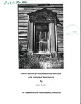 Maintenance Programming Manual for Historic Buildings by John Leeke