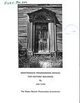 Maintenance Programming Manual for Historic Buildings