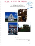 A Heritage for the Future: Maine's Statewide Historic Preservation Plan by Maine Historic Preservation Commission
