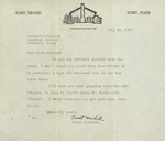 Letter from Surry Theatre to Charlotte Michaud