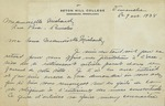 Letter from Sister Marie Elise Blouin of Seton Hill College to Charlotte Michaud by Marie Elise Blouin Sis.