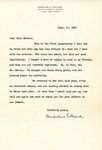 Letter from Madeline Pollard to Charlotte Michaud