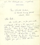 Letter from Charles M. Courboin to Charlotte Michaud