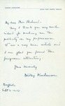 Letter from Dorothy Kornhauser to Charlotte Michaud