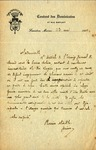 Letter from Couvent des Dominicains