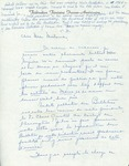 Letter from Marthe Biron Peloquin to Charlotte Michaud