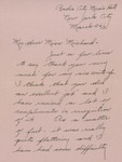 Letter from Virginia Wallace to Charlotte Michaud