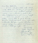 Letter from Mike Guignuard to Charlotte Michaud by Mike Guiguard
