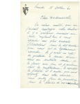 Letter from Sr. [Ni.] St. Paul