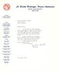Letter from La Société Historique Franco-Américaine