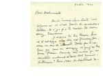 Letter from Gabriel Nadeau