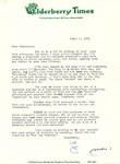 09.05.1974 Letter from Dee of Elderberry Times to Charlotte Michaud