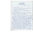 Letter from Marie Ange Baker
