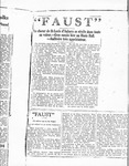 """Faust"" News Article by Unknown"