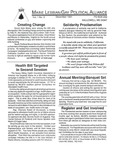 Maine Lesbian/Gay Political Alliance [newsletter] Vol.1, No.3 (December 1991)