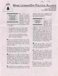Maine Lesbian/Gay Political Alliance [newsletter] ([April] 1994) by Maine Lesbian/Gay Political Alliance