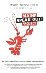 MSOP Newsletter (December 1998) by Maine Speakout Project