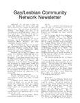 Gay/Lesbian Community Network Newletter ([October 1991])
