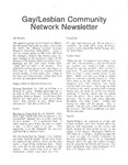 Gay/Lesbian Community Network Newletter ([December 1991])
