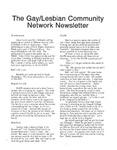 Gay/Lesbian Community Network Newletter ([January 1992])