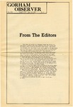 The Observer Vol. 13, Issue No. 2, 09-18-1970