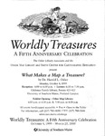 Worldly Treasures - A Fifth Anniversary Celebration (Mailer) by Osher Map Library and Smith Center for Cartographic Education