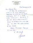 12/22/1991 Birthday Note