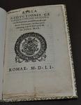 Bulla reductionis generalis concill ad civitatem Tridentinam… by Pope Julius III