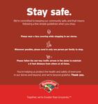 Stay Safe: Hannaford Supermarkets (Maine) by Libby Bischof