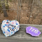Falmouth: Painted Rocks on Ledgewood Drive by Christine I. Dulac