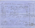 Manuscript document regarding hiring out of slaves by Dr. Robert M. Miller [from an estate in Charleston, S.C.].  Dates range from 1857 to 1859.
