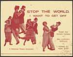 Stop the World I Want to Get Off Poster by University of Southern Maine Department of Theatre