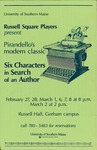Six Characters in Search of an Author by University of Southern Maine Department of Theatre