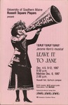 Leave it to Jane by University of Southern Maine Department of Theatre