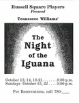 Night of the Iguana Flyer [1989]