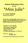 Miss Julie by University of Southern Maine Department of Theatre