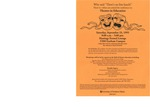 Theatre-in-Education Conference Flyer [1995]