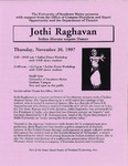Jothi Raghavan Flyer by University of Southern Maine Department of Theatre