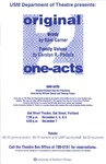 Original One-Acts: Brady & Family Values Poster by University of Southern Maine Department of Theatre