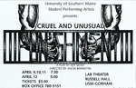 Cruel and Unusual Punishment Poster by University of Southern Maine Department of Theatre