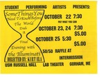 SPA Some Things You Need To Know Before the World Ends: An Evening with the Illuminati Flyer [1998] by University of Southern Maine Department of Theatre