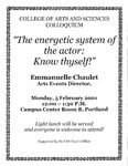 """""""The energetic system of the actor: Know thyself!"""" by University of Southern Maine Department of Theatre"""