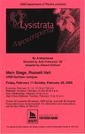 Lysistrata Poster by University of Southern Maine Department of Theatre